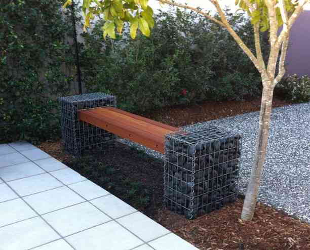 gabion seat, gabion cages, urban kubez, gabion wall, gabion letterbox,