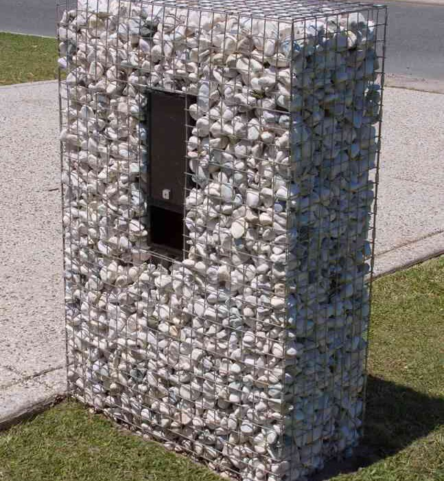 Gabion Letterbox, gabion cage, gabion basket, gabion features, gabion wall, gabion rock, gabion retaining