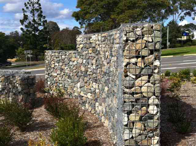 Gabion cages custom design gabion walls australia Gabion wall design