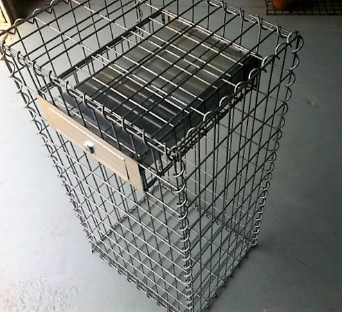 how to make a gabion letterbox