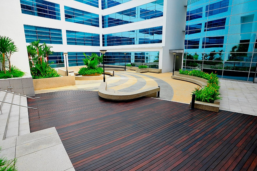 spirapave, versijack, greenwall, elmich, decking, paving, architecture
