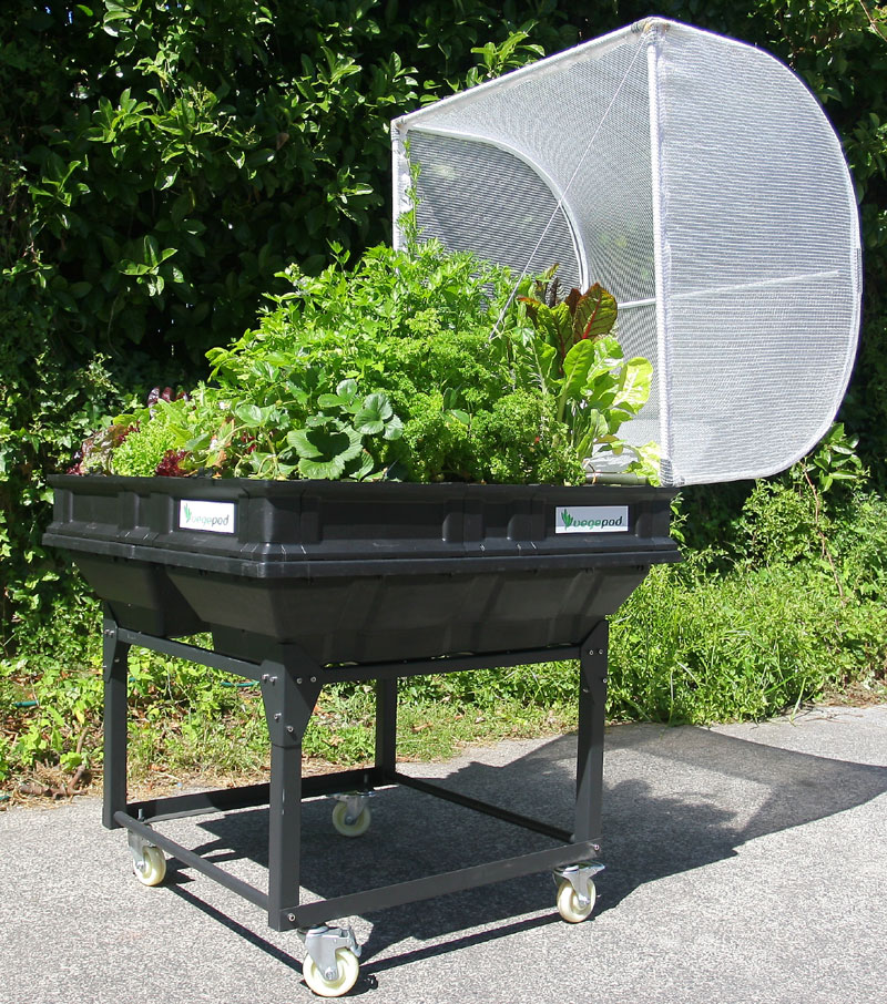 vegepod trolley stand medium, vegepod, vegepod small, vegetable garden, organic vegetables, raised garden bed, container garden, micro garden