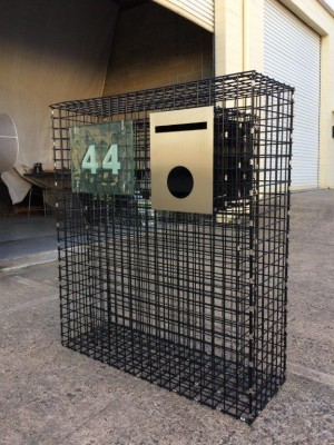 gabion, custom gabion letterbox, gabion cage, gabion basket, mailbox, retaining wall