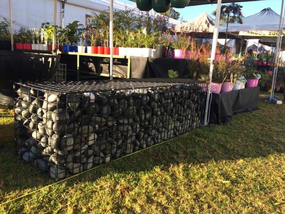 gabion, gabion cage, gabion basket, gabion bench seats, gabion cladding, gabion retaing wall, gabion rock, greenwalls, vertical gardens, gabion letterbox