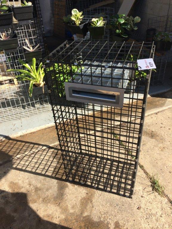 designer gabion letterbox black series gabions and outdoor products by defined style. Black Bedroom Furniture Sets. Home Design Ideas