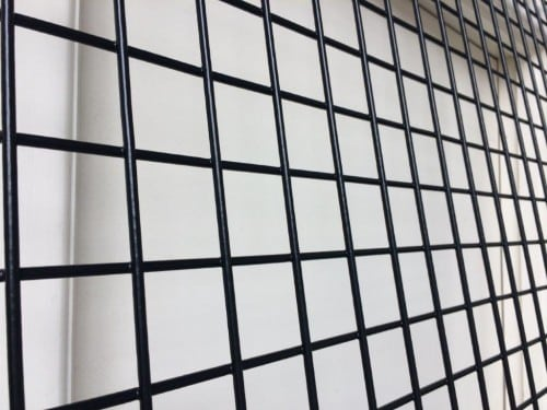 gabion, trellis, black mesh, weld mesh, gabion mesh, black weld mesh trellis panel