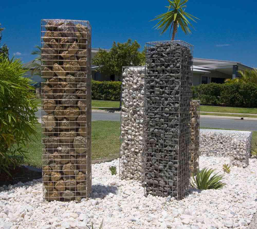 Gabion garden feature stone pillars diy gabion cages gabion baskets gabion retaining wall gabion rock gabion letterbox solutioingenieria Gallery