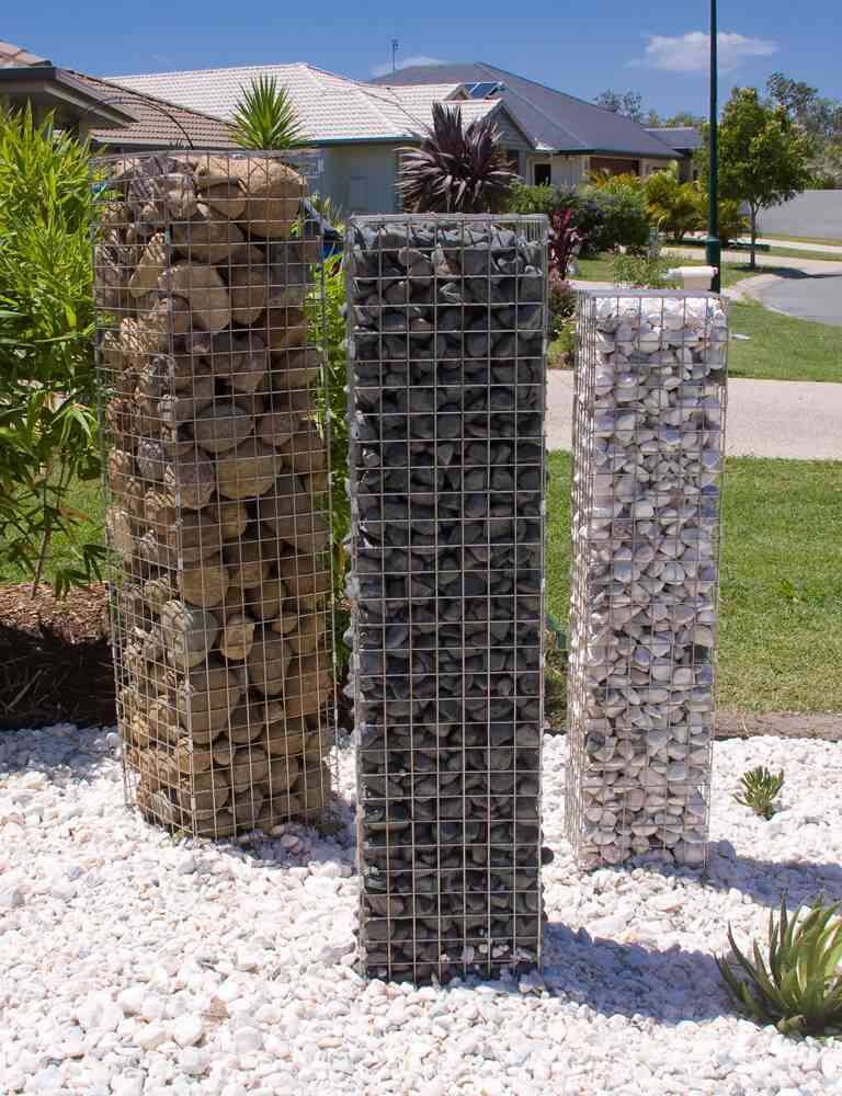 Gabion Garden Feature Stone Pillars Diy