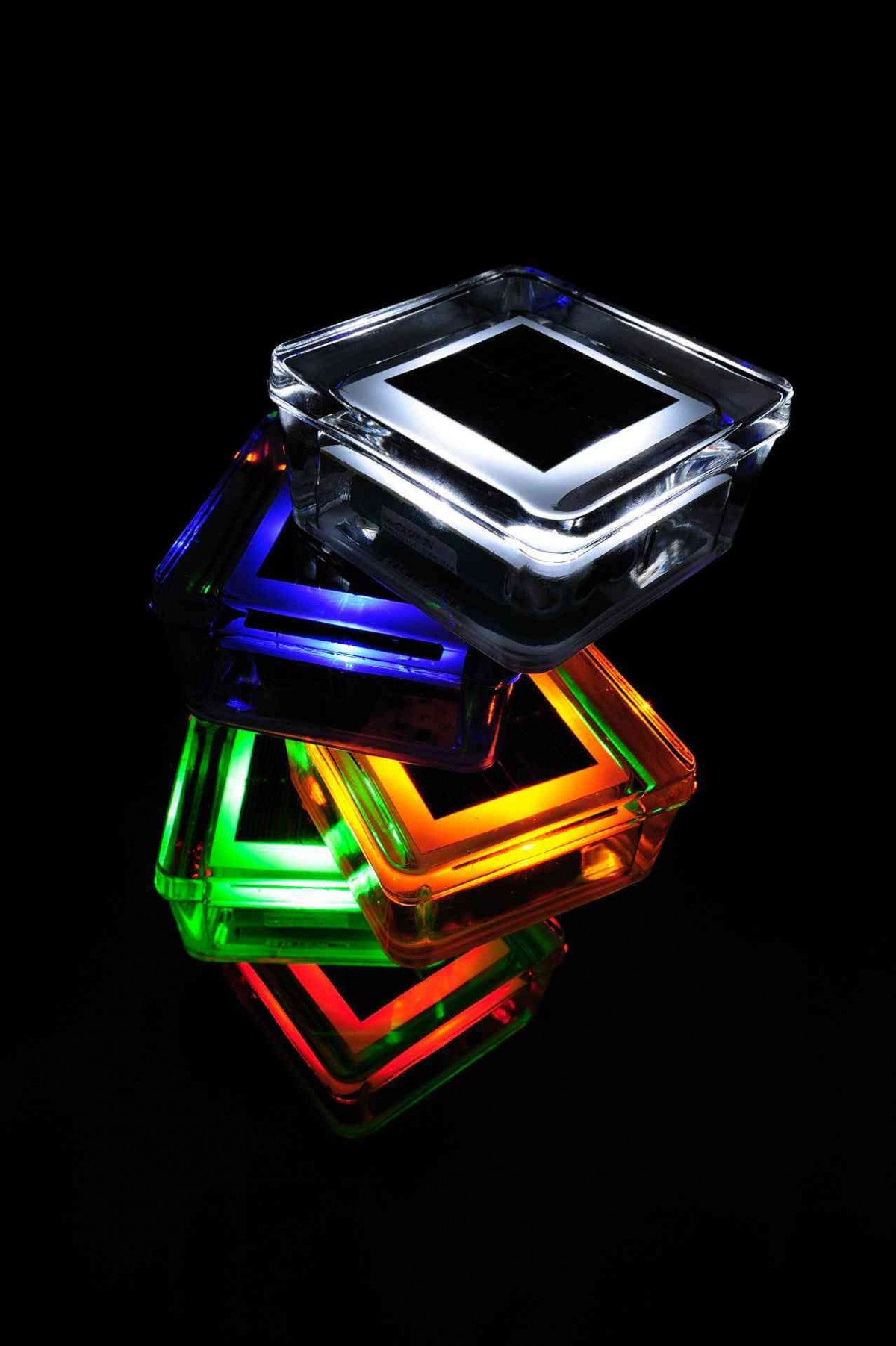 Landscape Solar Light Decorative Glass Solar Brick